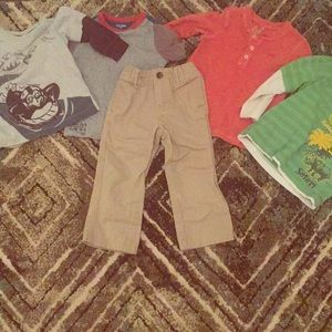 Other - 5 piece 2t- 4 shirts and khakis